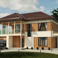 проект и фото дома из СИП панелей