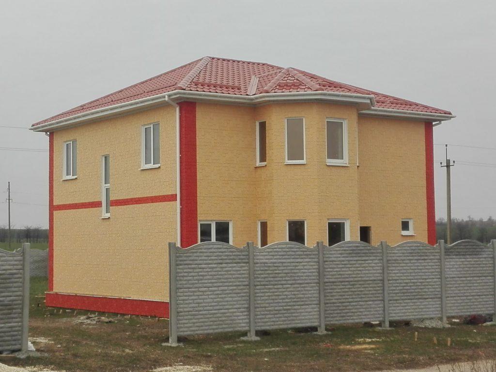 Построенный СИП дом в Симферопольском районе
