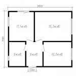 Проект дома из СИП панелей ДнК-06