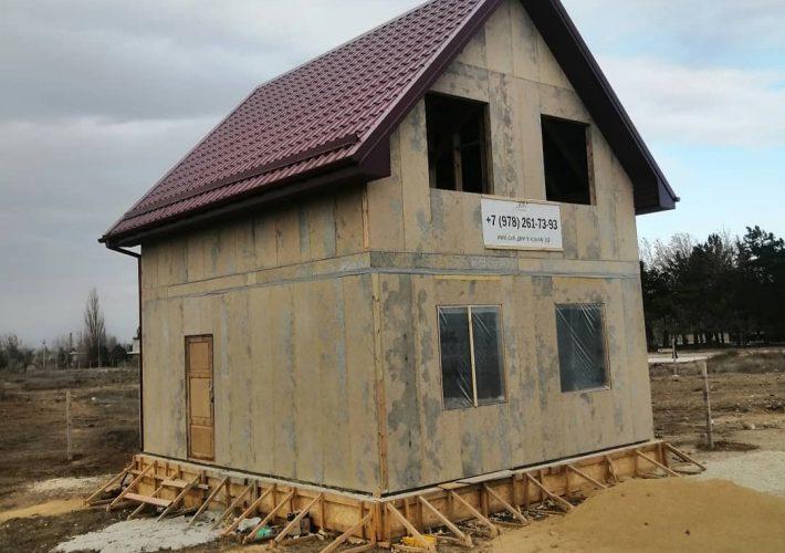 Окончание кровельных работ на СИП доме в городе Саки